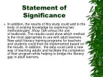 statement of significance1
