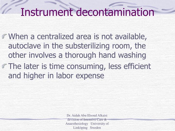 Instrument decontamination