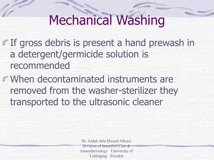 Mechanical Washing