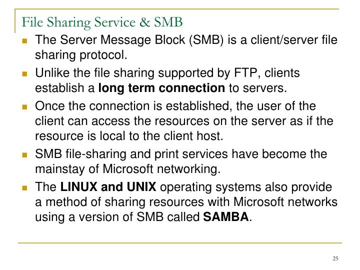 File Sharing Service & SMB