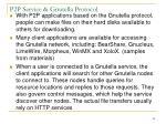 p2p service gnutella protocol