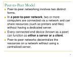 peer to peer model