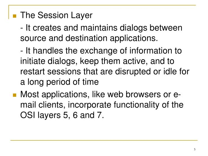 The Session Layer