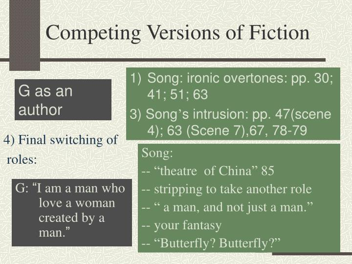 Competing Versions of Fiction