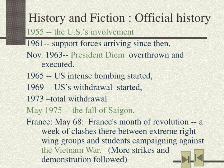 History and Fiction : Official history