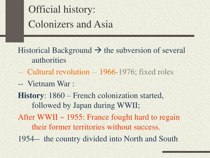 Official history: