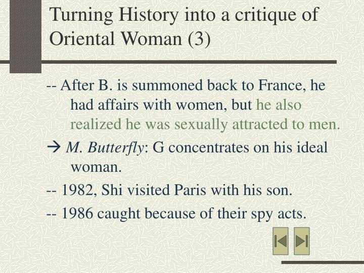 Turning History into a critique of Oriental Woman (3)