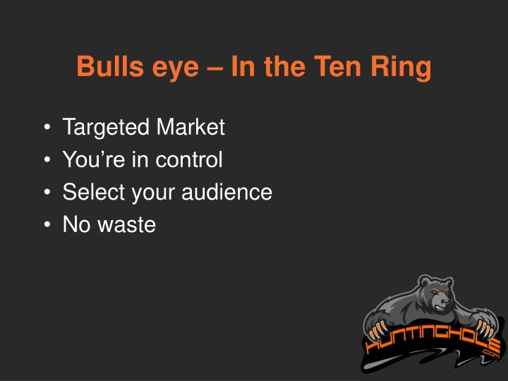 Bulls eye – In the Ten Ring