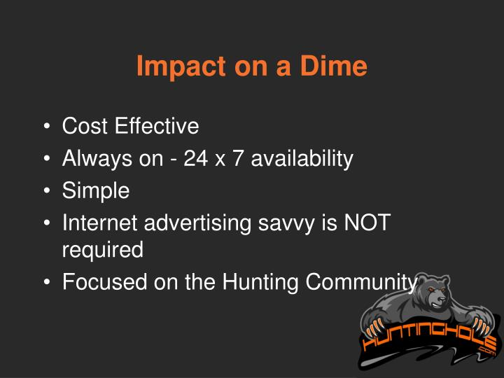 Impact on a Dime
