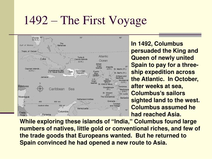 1492 – The First Voyage