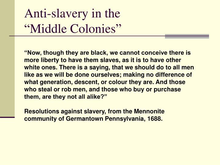 Anti-slavery in the