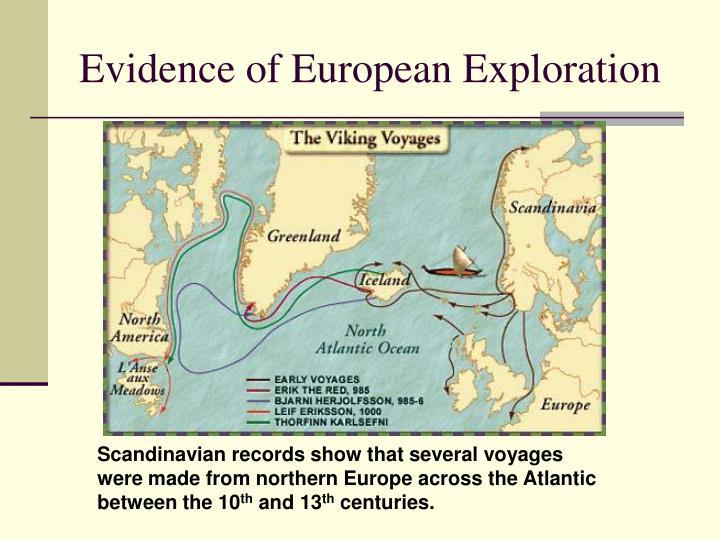 Evidence of European Exploration