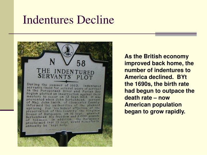 Indentures Decline