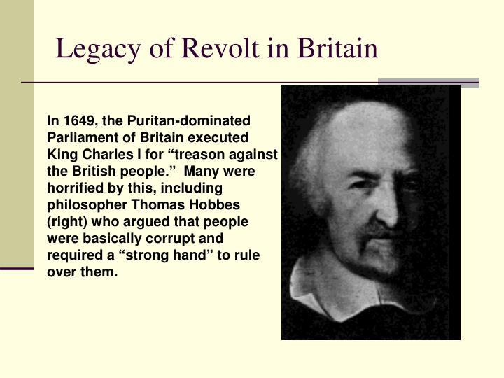 Legacy of Revolt in Britain