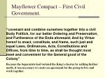 mayflower compact first civil government