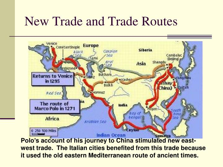 New Trade and Trade Routes
