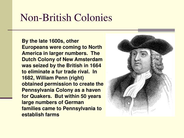 Non-British Colonies
