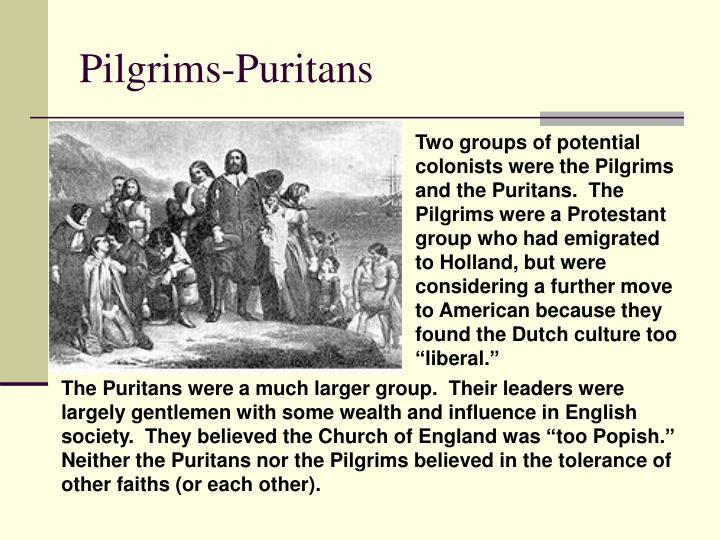 Pilgrims-Puritans