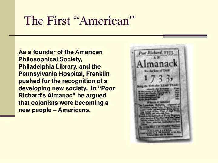 """The First """"American"""""""