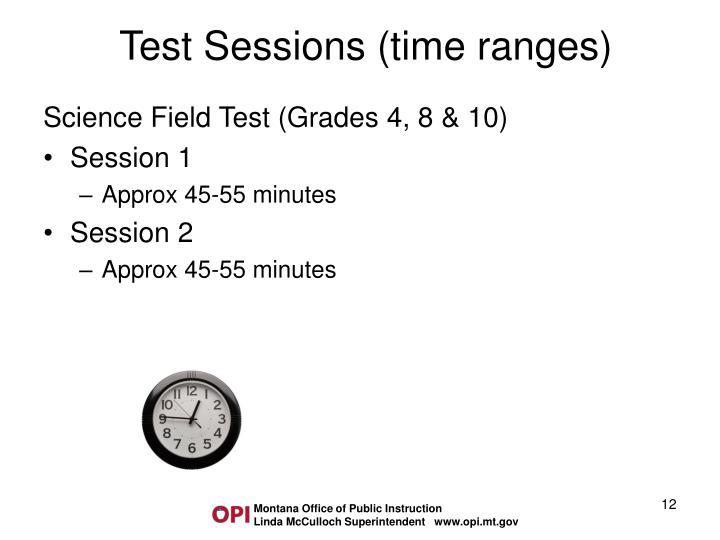Science Field Test (Grades 4, 8 & 10)