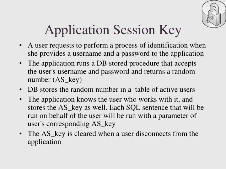 Application Session Key