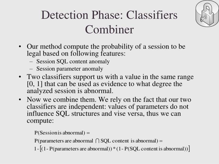 Detection Phase: Classifiers Combiner