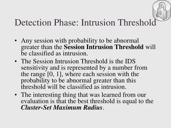 Detection Phase: Intrusion Threshold