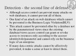 detection the second line of defense