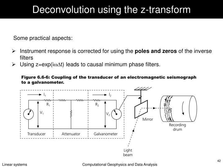 Deconvolution using the z-transform