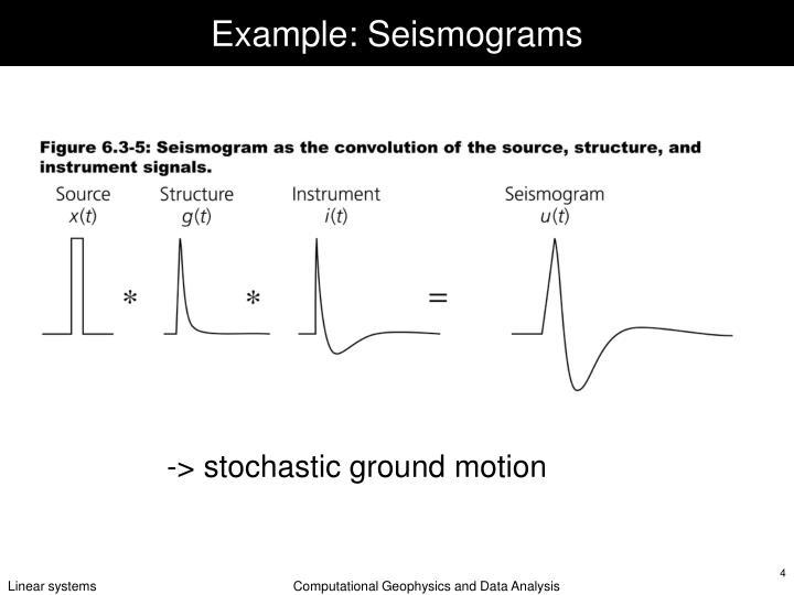 Example: Seismograms