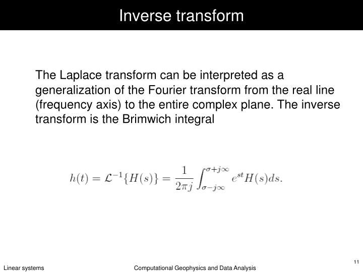 Inverse transform