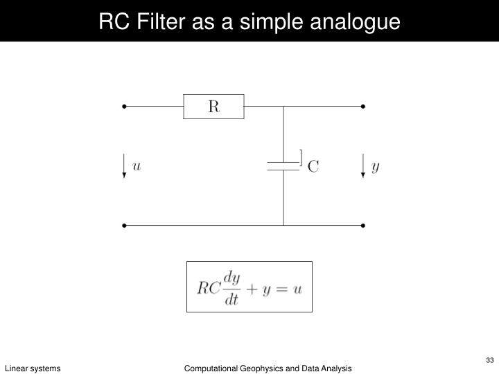 RC Filter as a simple analogue