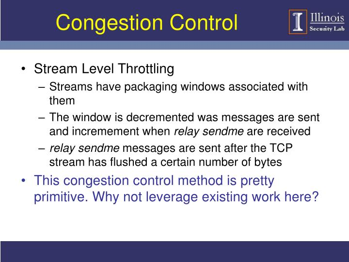 Congestion Control