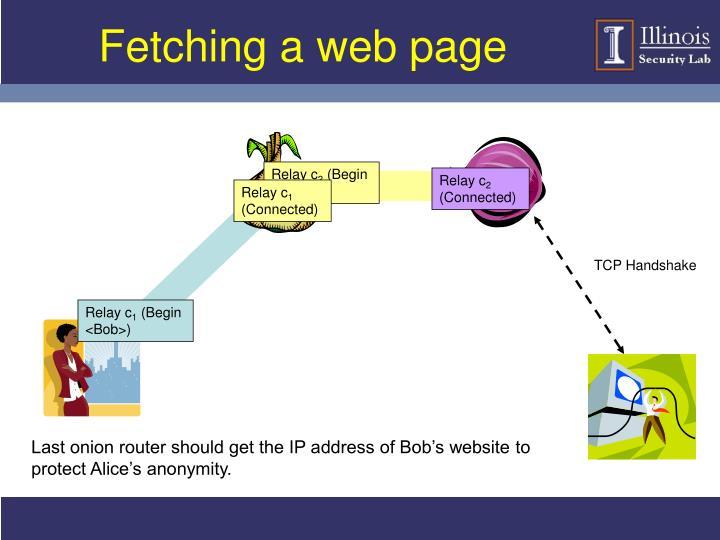 Fetching a web page