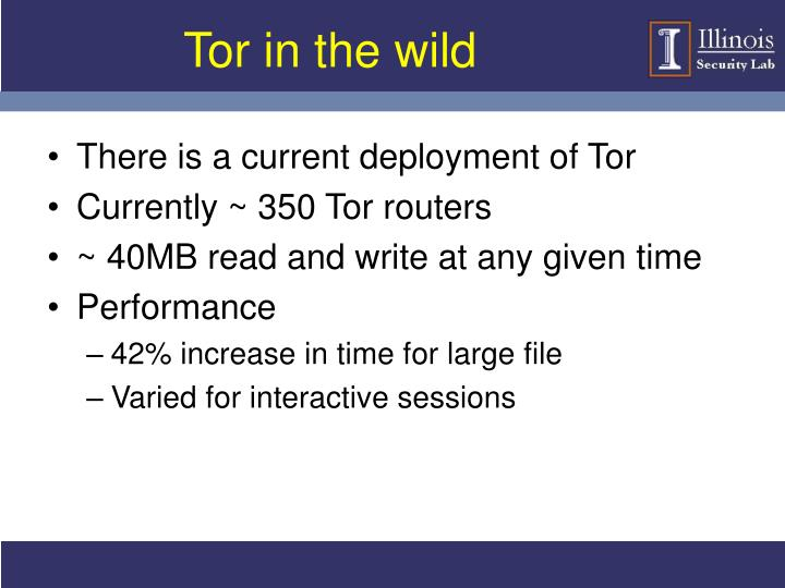 Tor in the wild