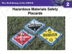 hazardous materials safety placards