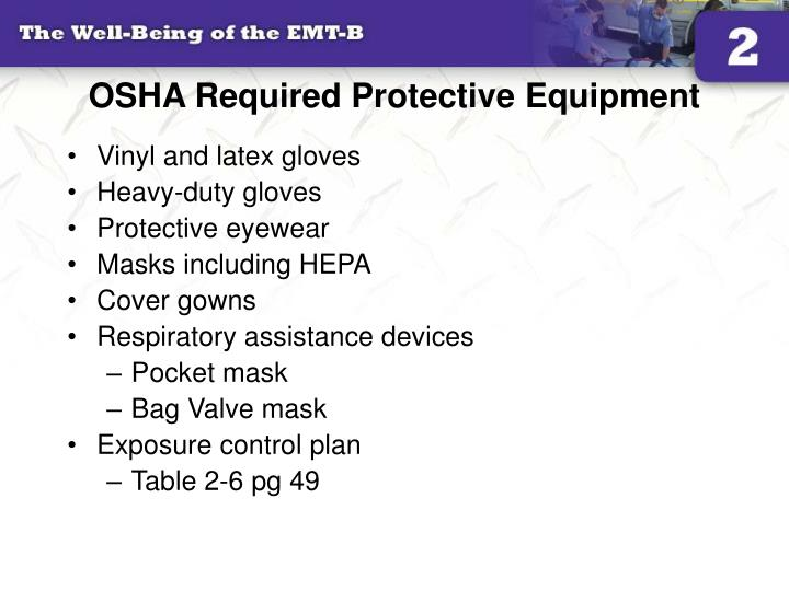 OSHA Required Protective Equipment