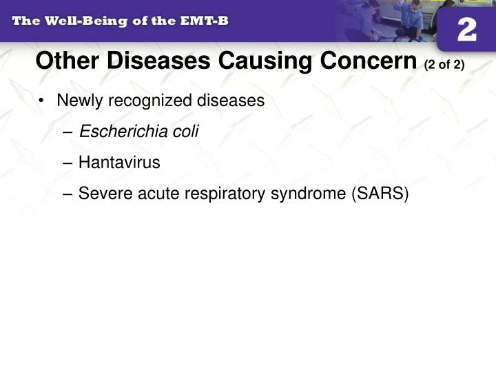 Other Diseases Causing Concern