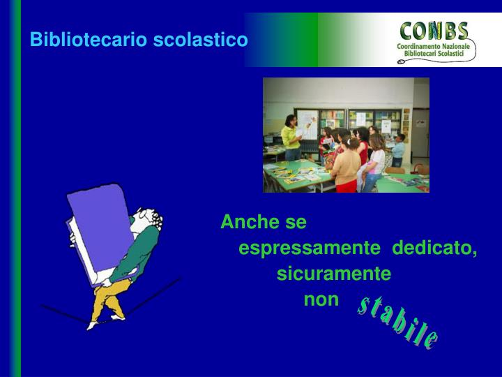 Bibliotecario scolastico