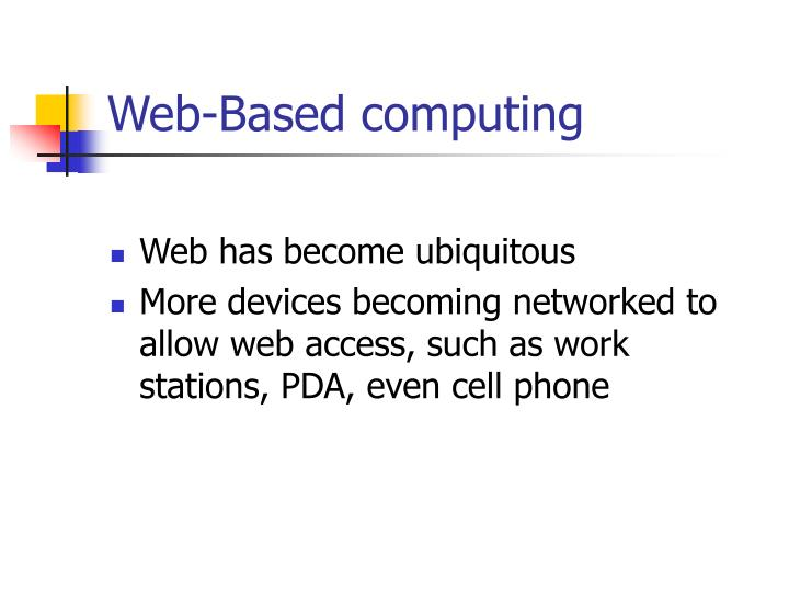 Web-Based computing
