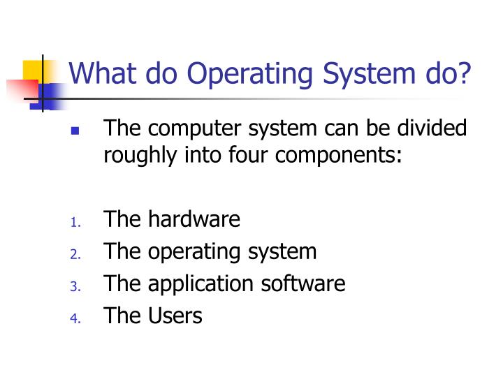 What do Operating System do?