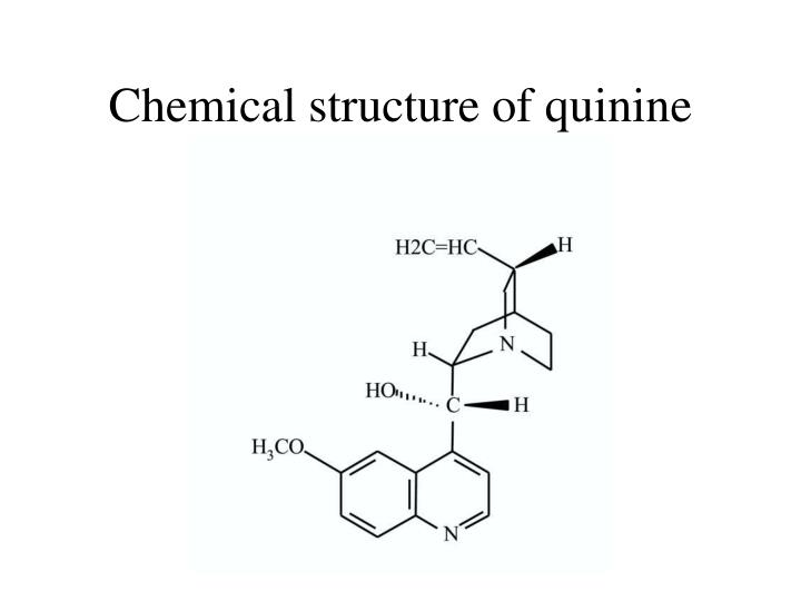 Chemical structure of quinine