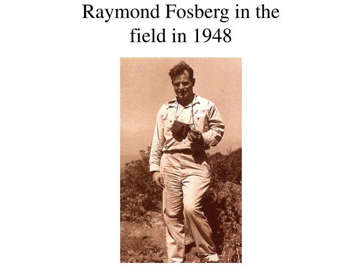 Raymond Fosberg in the