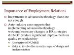 importance of employment relations
