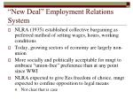 new deal employment relations system
