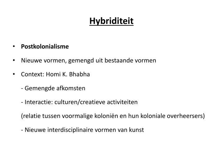 Hybriditeit