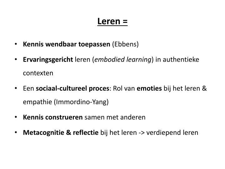 Leren =