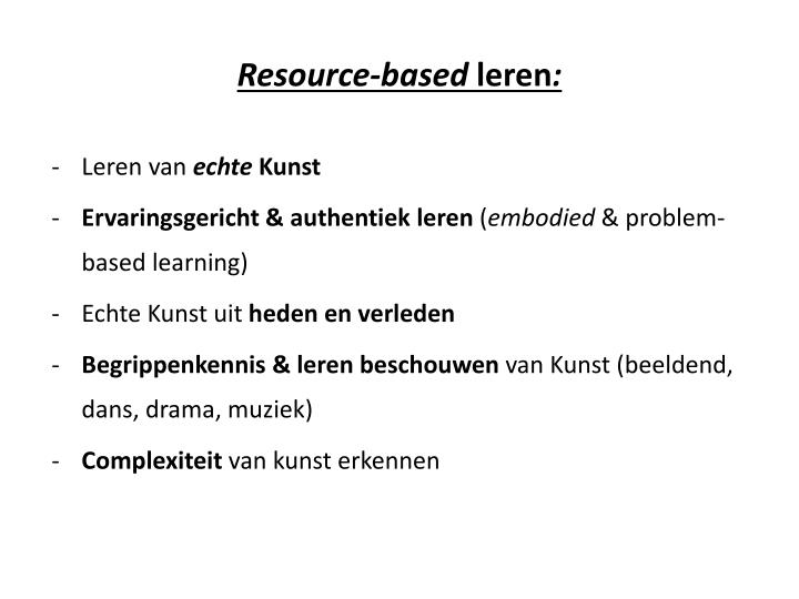 Resource-based
