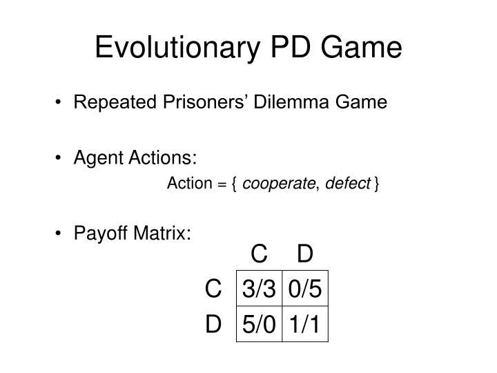 Evolutionary PD Game