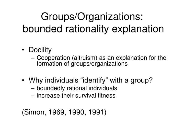 Groups/Organizations: